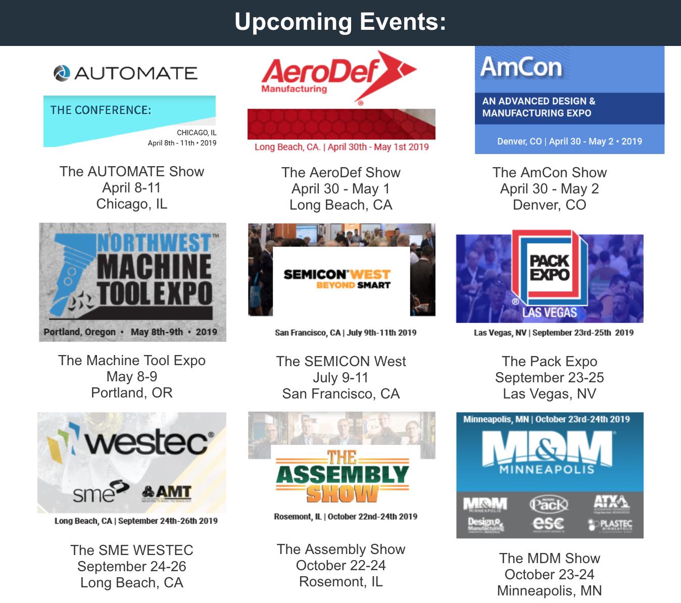 Futura Automation Events 2019