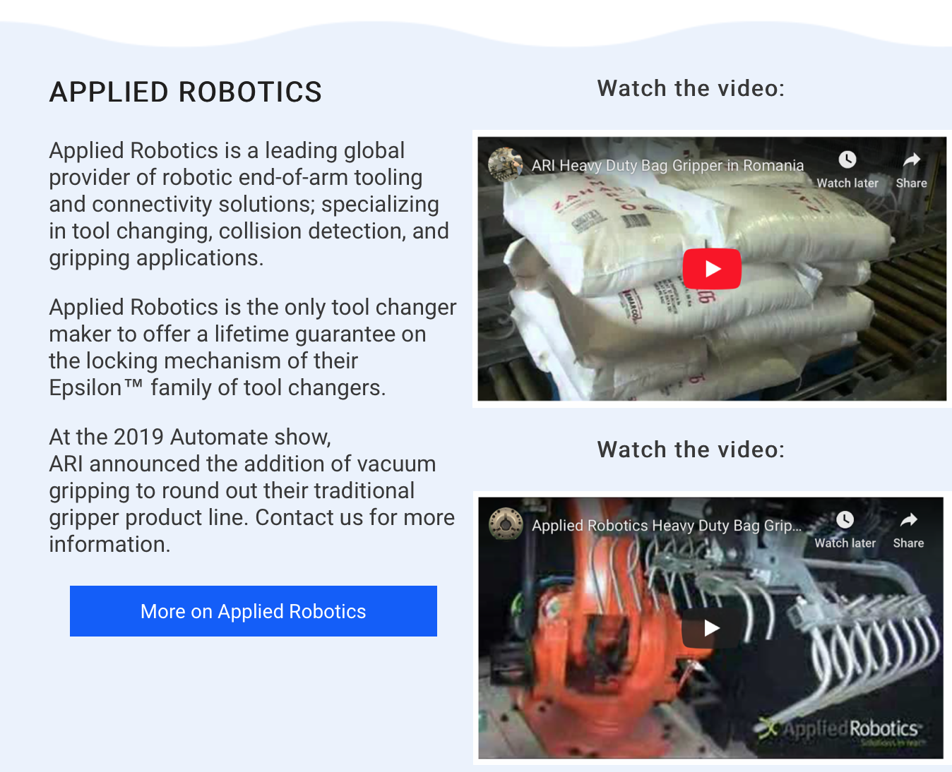 Futura and Applied Robotics