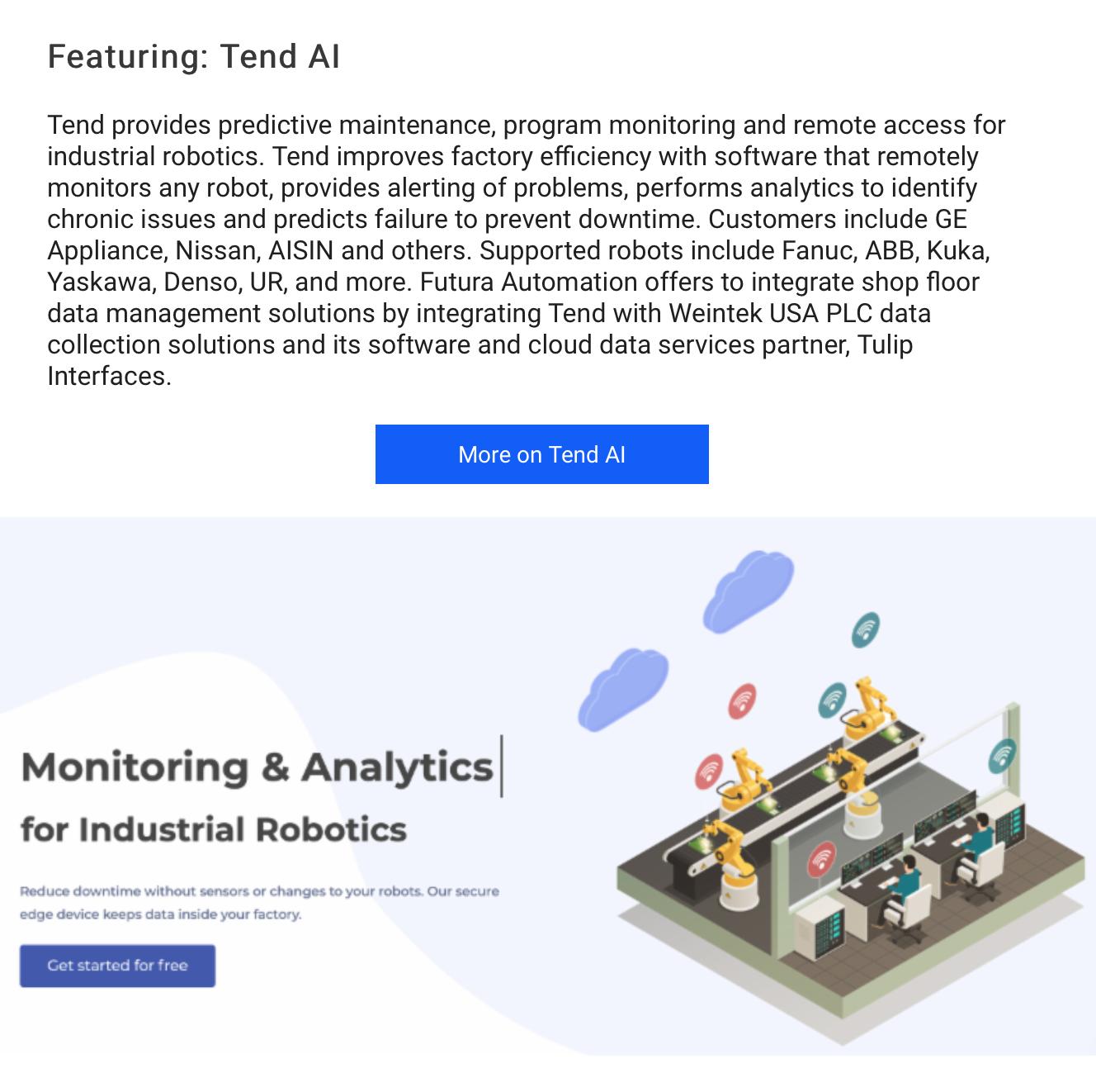 Futura and Tend AI