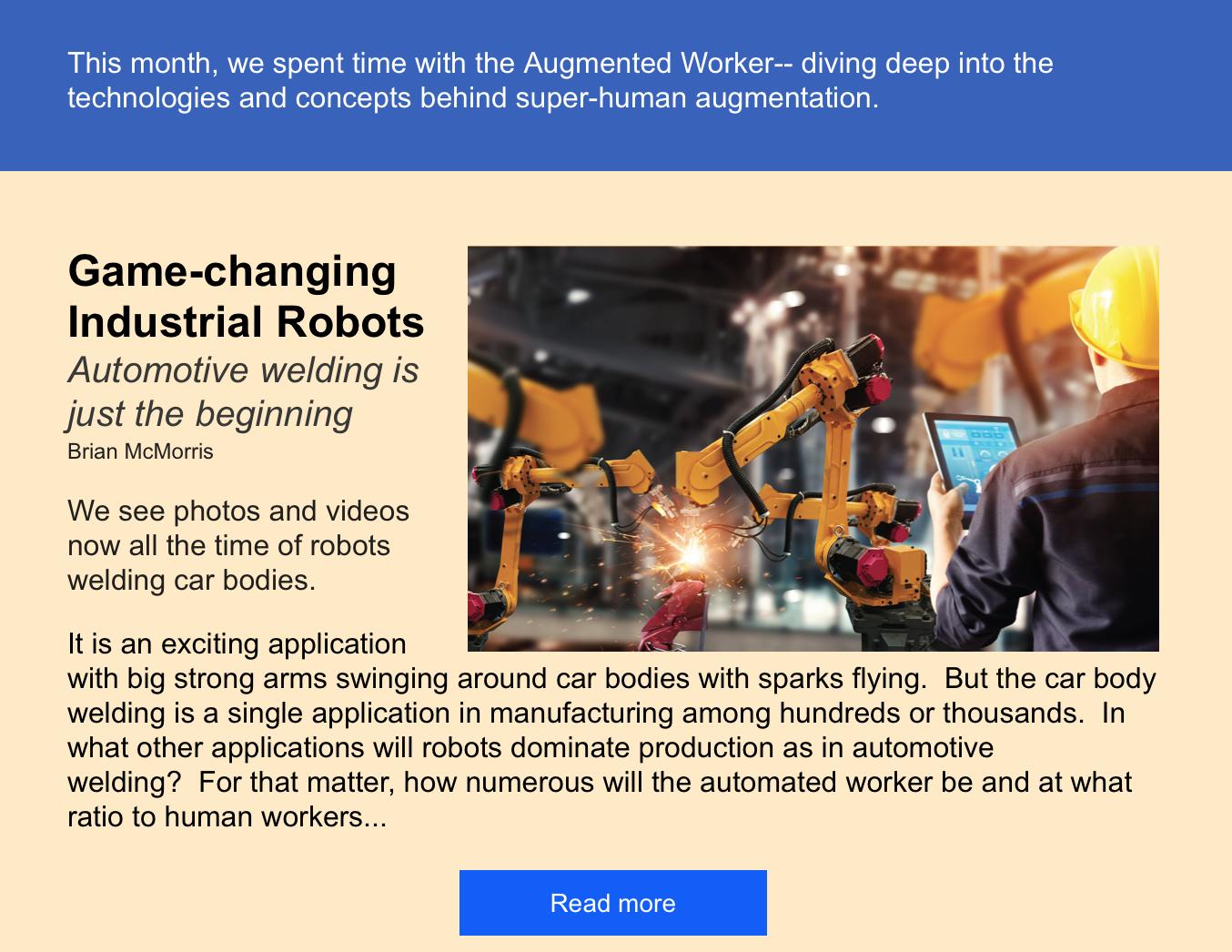 Automated Worker Robotics