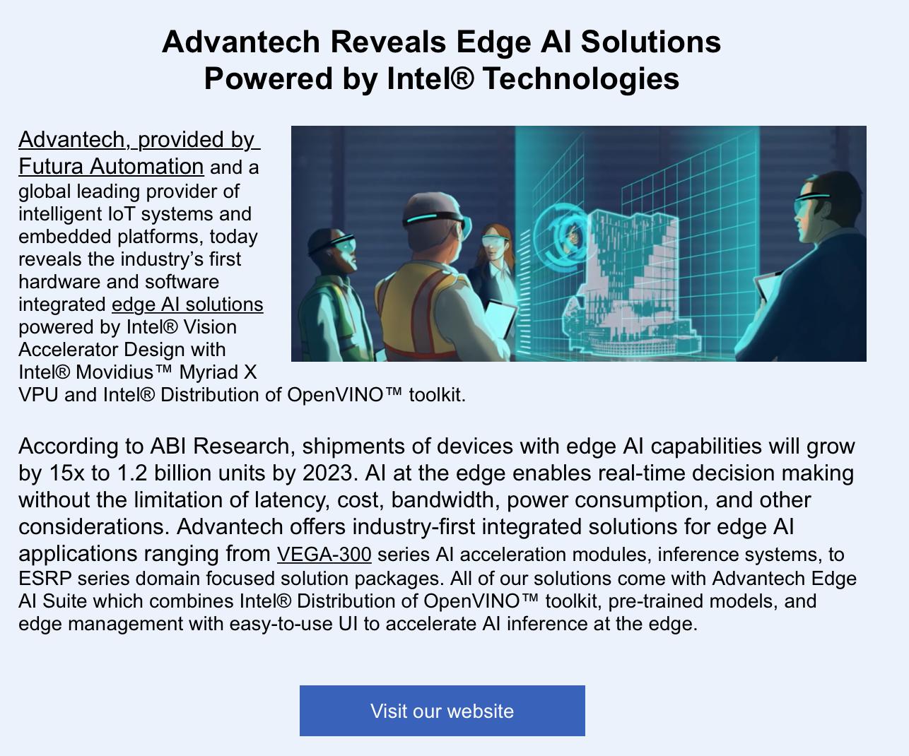 Advantech AI Solutions Link