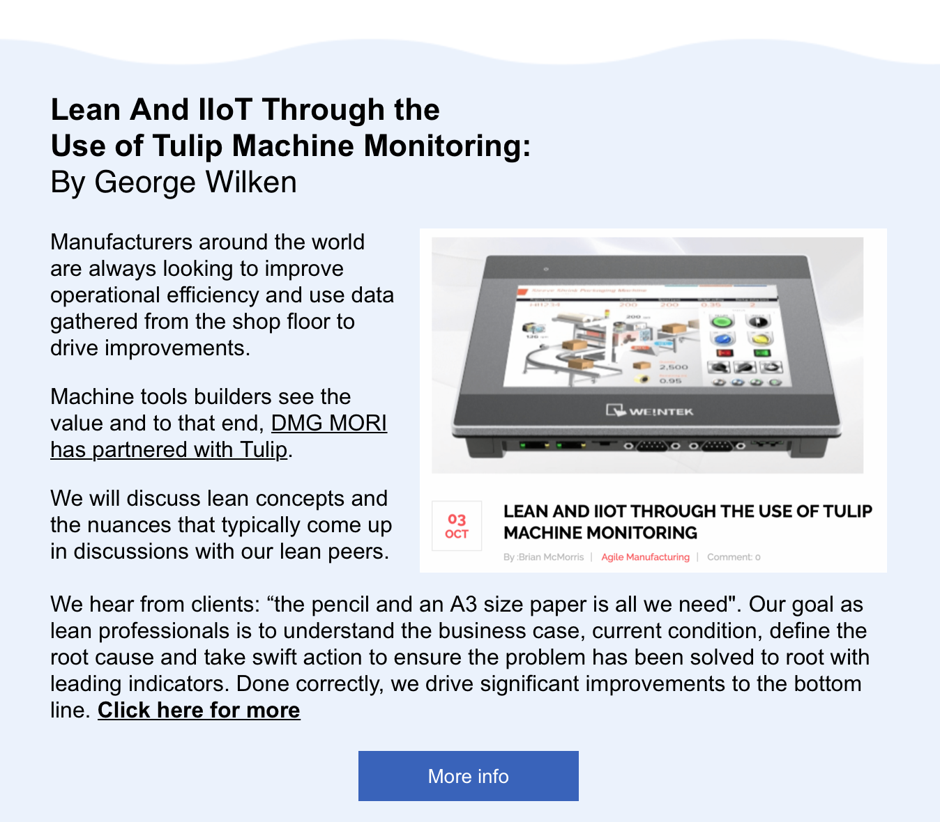 Lean and IIoT with Tulip