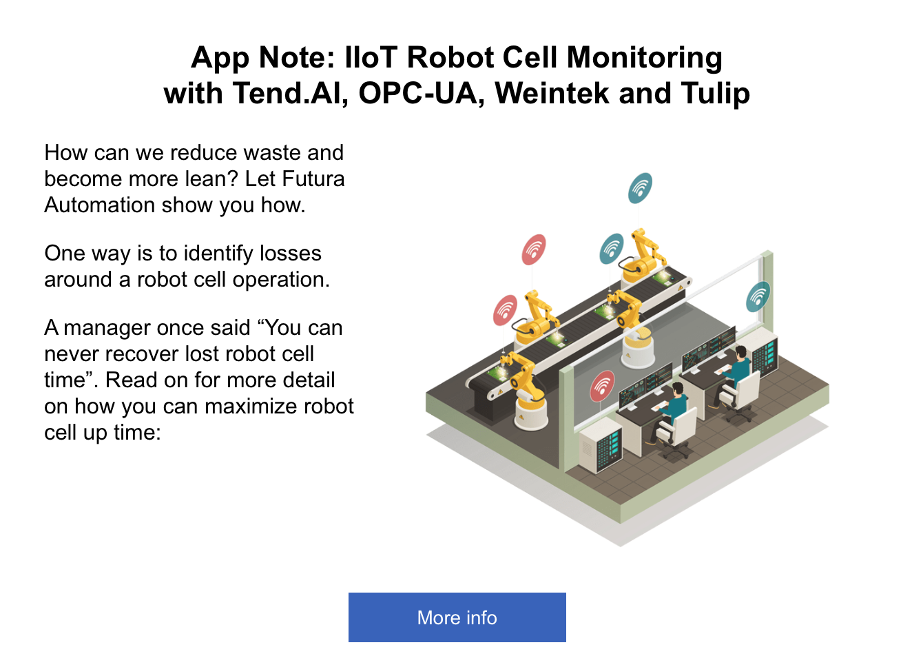 Robot Cell Monitoring and Tend AI